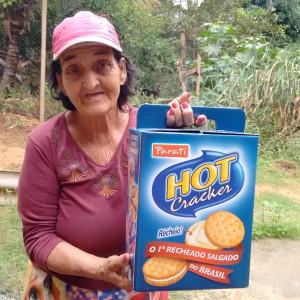 Ouvinte Dona Maria ganhadora do Kit Hot Cracker Parati